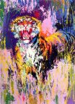 bengal tiger by leroy neiman painting