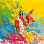 bucking bronc by leroy neiman painting