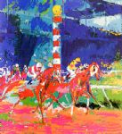 clubhouse turn by leroy neiman painting