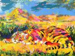 delacroix s tiger by leroy neiman painting