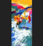 leroy neiman downhill paintings