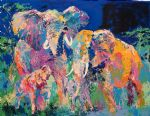 elephant family by leroy neiman painting