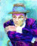frank sinatra the voice by leroy neiman painting