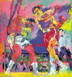 frazier foreman jamaica by leroy neiman painting