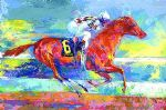 funny cide by leroy neiman painting