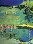 golf landscape by leroy neiman painting