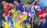 leroy neiman golf winners paintings