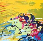 indoor cycling by leroy neiman painting