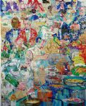 international cuisine by leroy neiman painting