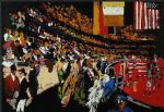 horse paintings - international horse show new york by leroy neiman