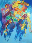 jazz horns by leroy neiman painting