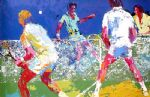men s doubles by leroy neiman painting
