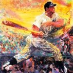 mickey mantle by leroy neiman painting