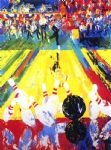 million dollar strike by leroy neiman painting