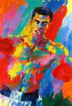 muhammad ali athlete of the century by leroy neiman painting