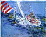 nantucket sailing by leroy neiman painting
