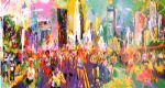 new york marathon by leroy neiman painting