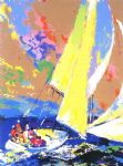 normandy sailing by leroy neiman painting