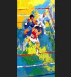 olympic boxing moscow 1980 by leroy neiman painting
