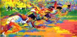 olympic track by leroy neiman painting