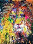 portrait paintings - portrait of the lion by leroy neiman