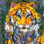 portrait of the tiger by leroy neiman painting