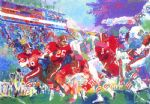 post season football classic by leroy neiman painting