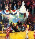 leroy neiman president s birthday party painting