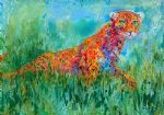 prowling leopard by leroy neiman painting