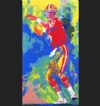 quarterback of the 80 s by leroy neiman painting