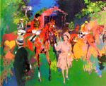 queen at ascot by leroy neiman painting