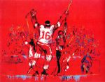 red goal by leroy neiman painting