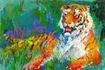 resting tiger by leroy neiman painting