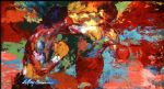 leroy neiman rocky vs apollo oil painting