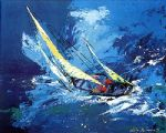 sailing by leroy neiman painting
