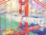 san francisco by leroy neiman painting