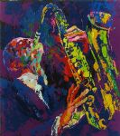 sax man by leroy neiman painting