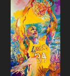 shaq by leroy neiman painting