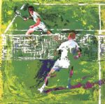 tennis players by leroy neiman painting