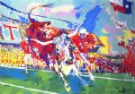 texas longhorns by leroy neiman painting