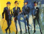 the beatles by leroy neiman painting