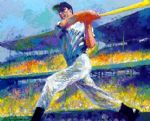 the dimaggio cut by leroy neiman painting