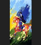 the equestrianne by leroy neiman painting