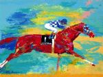 the great secretariat by leroy neiman painting