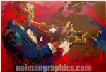 the jazz player by leroy neiman painting