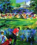 golf oil paintings - valhalla golf by leroy neiman painting