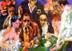 vegas blackjack by leroy neiman painting