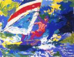 wind surfing by leroy neiman painting