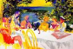 leroy neiman wine alfresco paintings: 85156