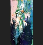 winter olympic skating by leroy neiman painting